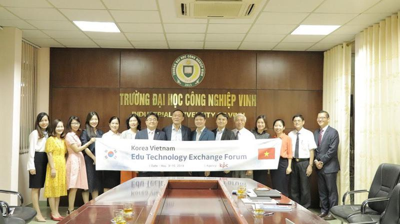 Đại học Công nghiệp Vinh đẩy mạnh hợp tác quốc tế về đào tạo, giáo dục với các trường Đại học Hàn Quốc