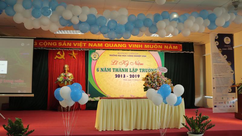 Lễ kỷ niệm 6 năm ngày thành lập Trường Đại học Công nghiệp Vinh (12/6/2013 – 12/6/2019)