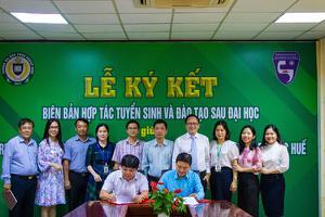 Trường ĐH Công Nghiệp Vinh ký kết Biên bản hợp tác Tuyển...