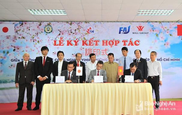 Trường Đại học Công nghiệp Vinh ký kết hợp tác cung ứng lao động với Nhật Bản