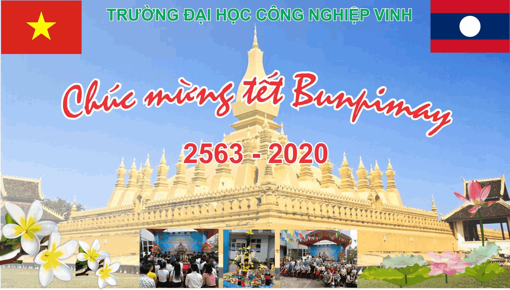 Ban Giám hiệu Trường ĐHCN Vinh gửi thư chúc Tết cổ truyền Bunpimay cho Du học sinh Lào