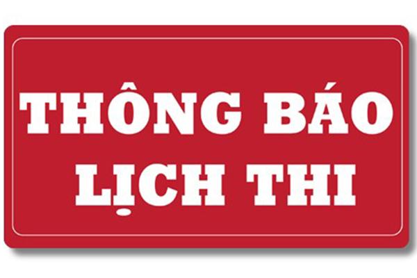 Lịch thi cuối kỳ 2 Đại học Công nghiệp TP. Hồ CHí Minh( IUH) đào tạo tại Công nghiệp Vinh(IUV)_Khoa công nghệ