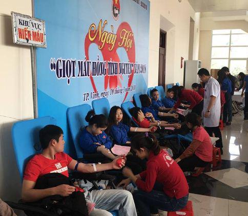 Hiến máu tình nguyện – nghĩa cử cao đẹp của sinh viên trường Đại học Công nghiệp Vinh