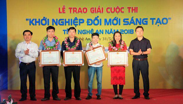 """Tổng kết và trao giải cuộc thi """"Khởi nghiệp đổi mới sáng tạo"""" tỉnh Nghệ An năm 2018"""